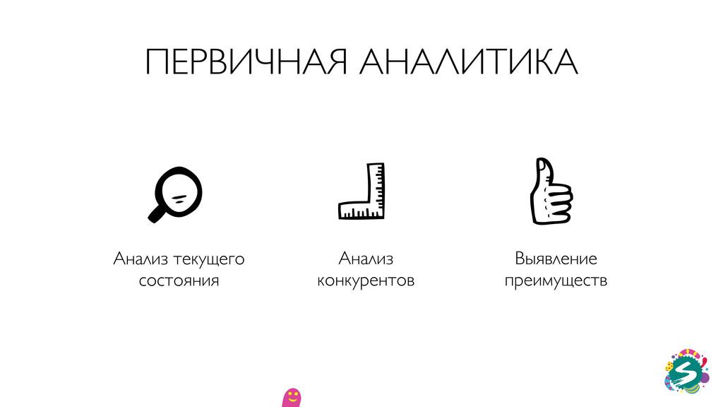 ПЕРВИЧНАЯ АНАЛИТИКА Анализ текущего состояния В...
