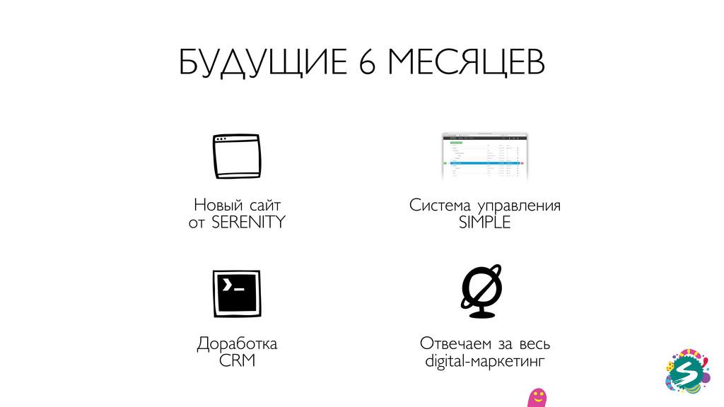 БУДУЩИЕ 6 МЕСЯЦЕВ Новый сайт от SERENITY Систем...