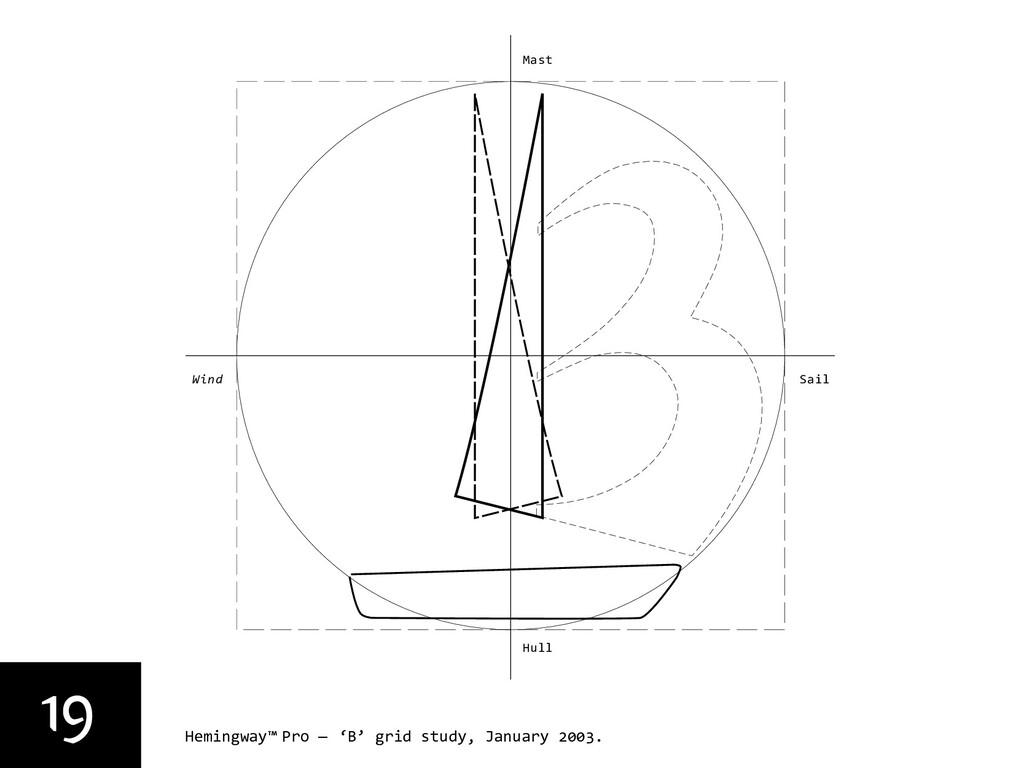19 Hemingway™ Pro — 'B' grid study, January 200...