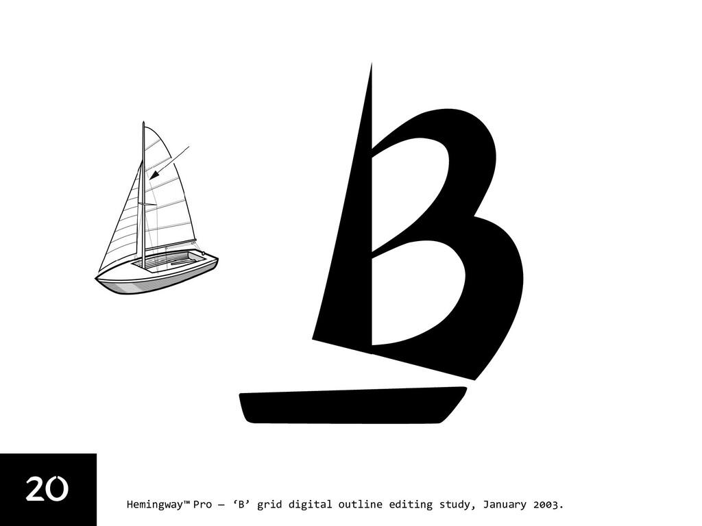 20 Hemingway™ Pro — 'B' grid digital outline ed...