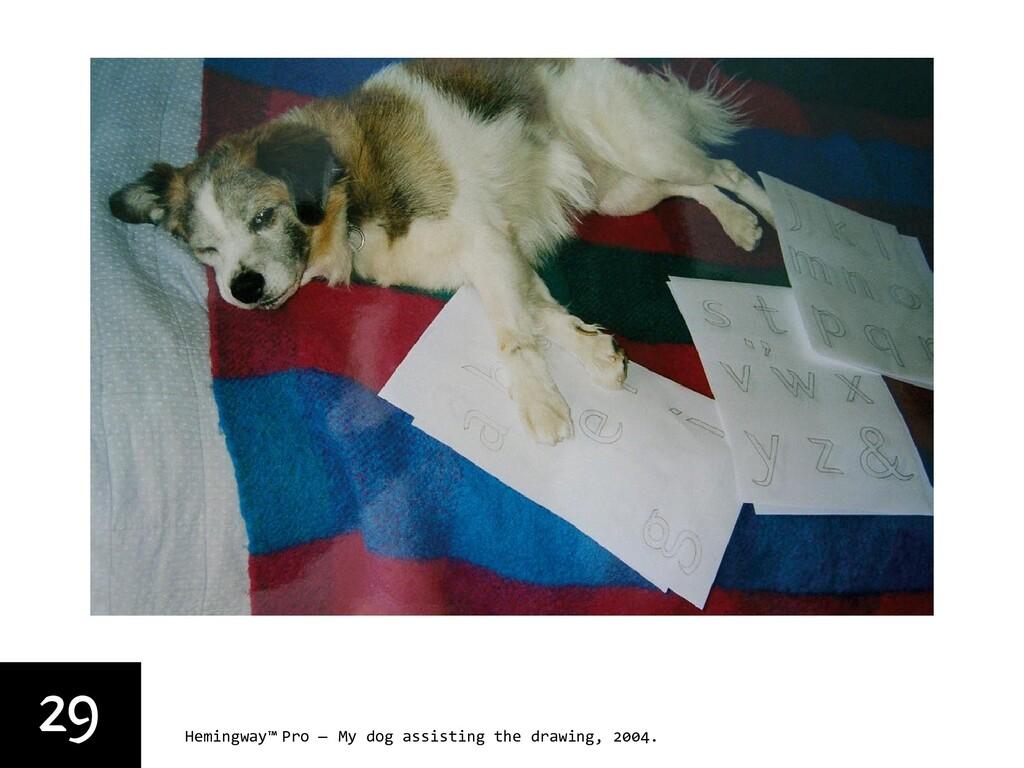29 Hemingway™ Pro — My dog assisting the drawin...