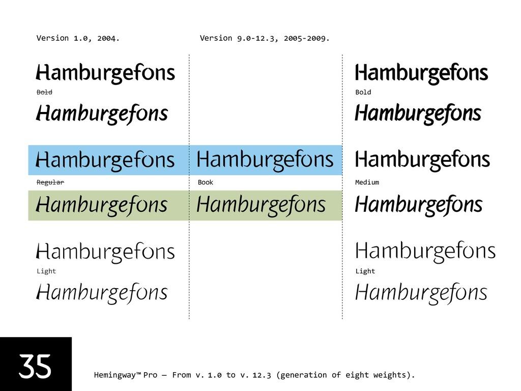 35 Hemingway™ Pro — From v. 1.0 to v. 12.3 (gen...
