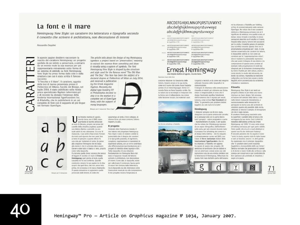 40 Hemingway™ Pro — Article on Graphicus magazi...