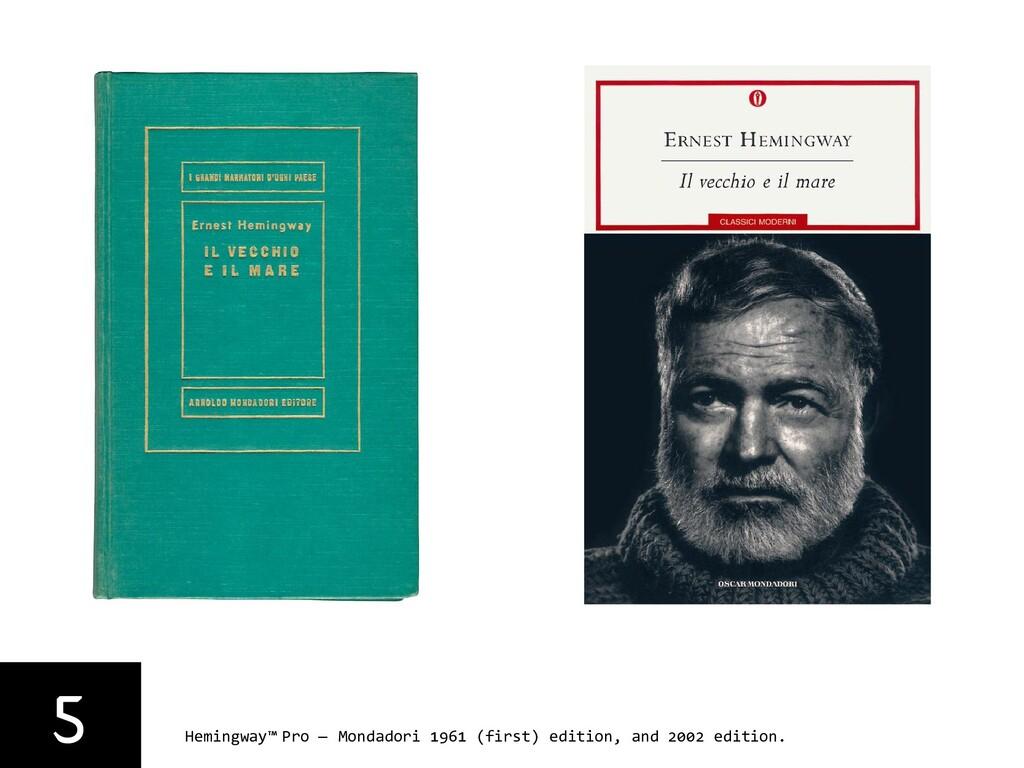 5 Hemingway™ Pro — Mondadori 1961 (first) editi...
