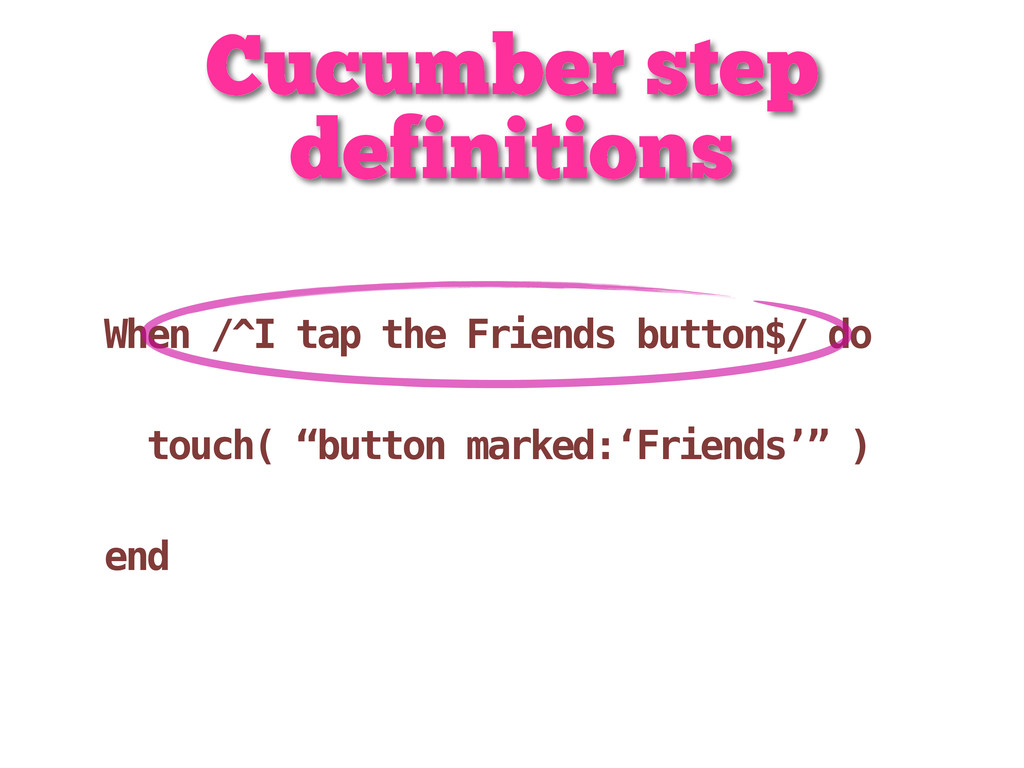Cucumber step definitions When /^I tap the Frie...