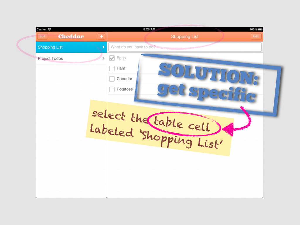select the table cell labeled 'Shopping List' S...