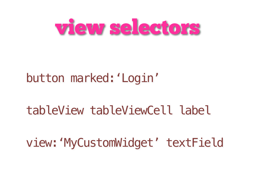 view selectors button marked:'Login' tableView ...