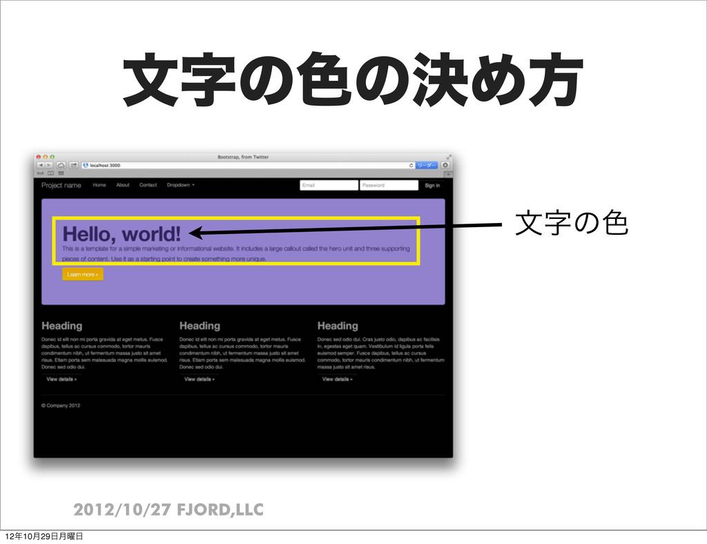2012/10/27 FJORD,LLC จͷ৭ͷܾΊํ จͷ৭ 1210݄29݄༵