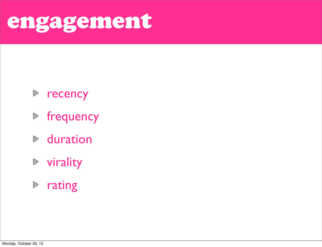 engagement recency frequency duration virality ...