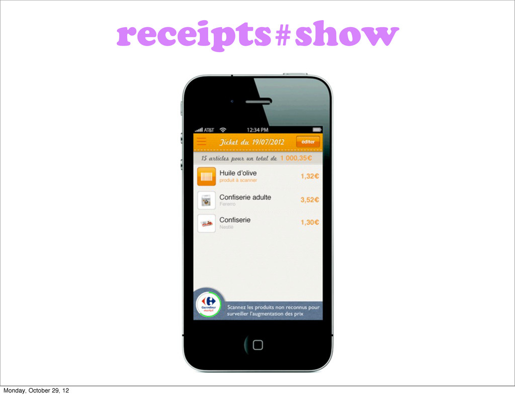 receipts#show Monday, October 29, 12