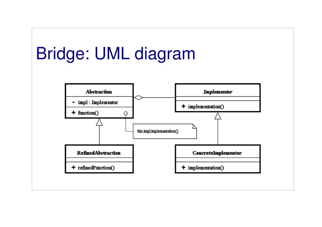 Bridge: UML diagram
