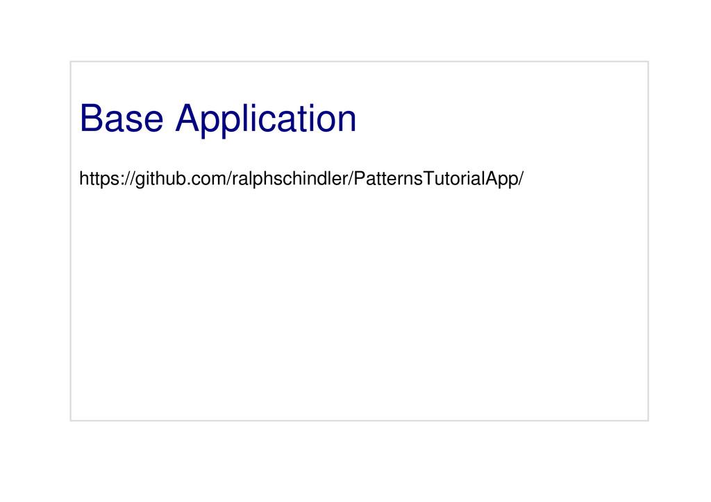 Base Application https://github.com/ralphschind...