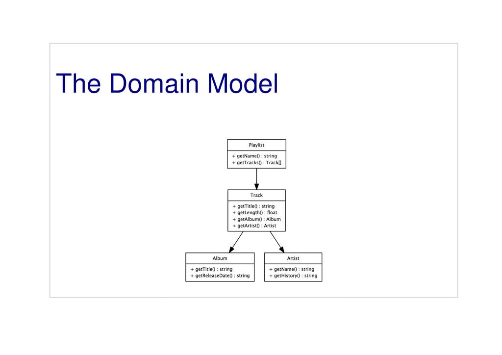 The Domain Model