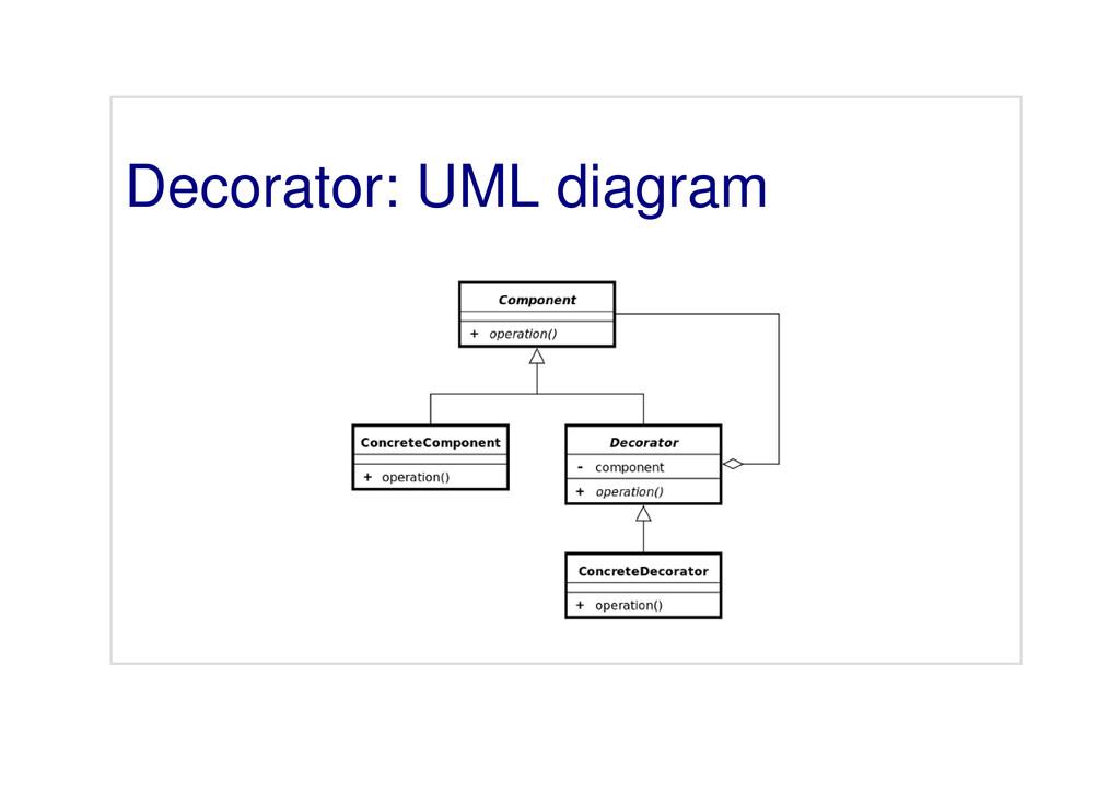 Decorator: UML diagram