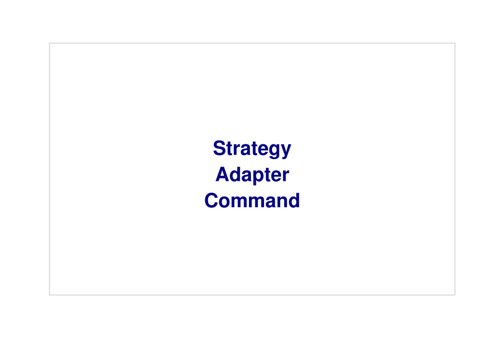 Strategy Adapter Command