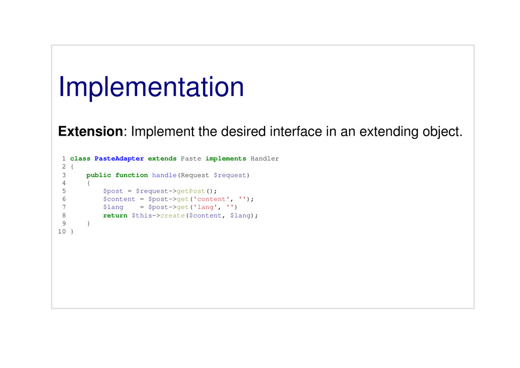 Implementation Extension: Implement the desired...