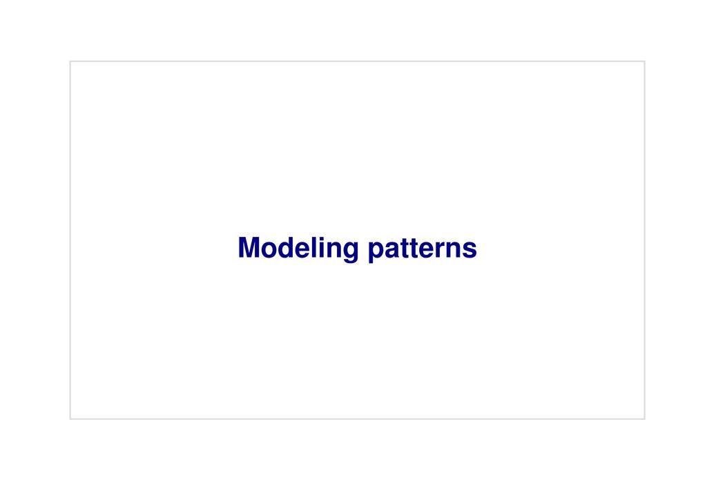 Modeling patterns