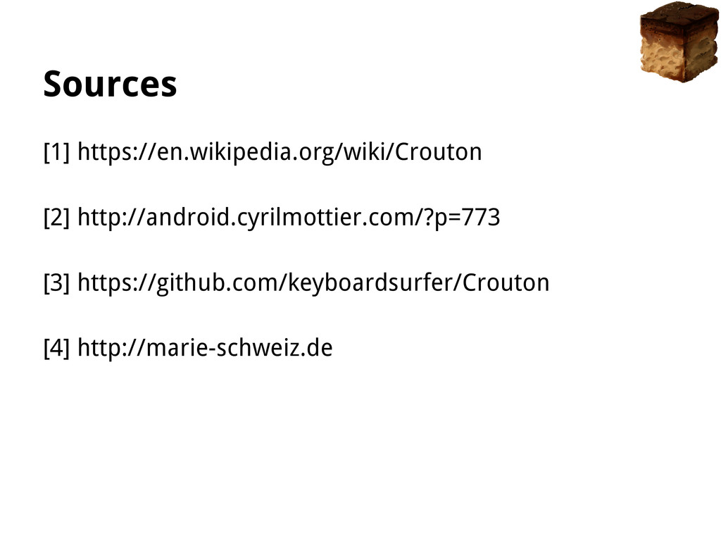 Sources [1] https://en.wikipedia.org/wiki/Crout...