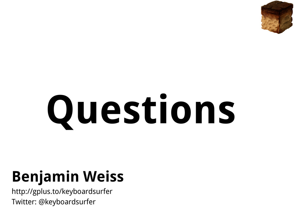 Questions Benjamin Weiss http://gplus.to/keyboa...