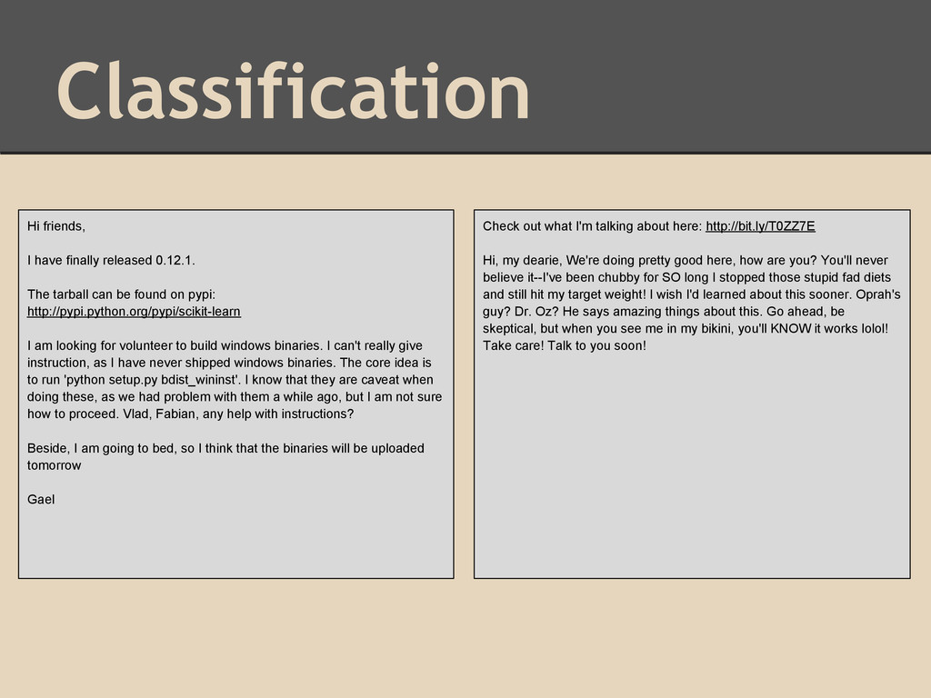 Classification Hi friends, I have finally relea...