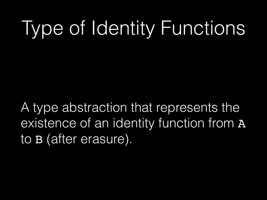 Type of Identity Functions A type abstraction t...