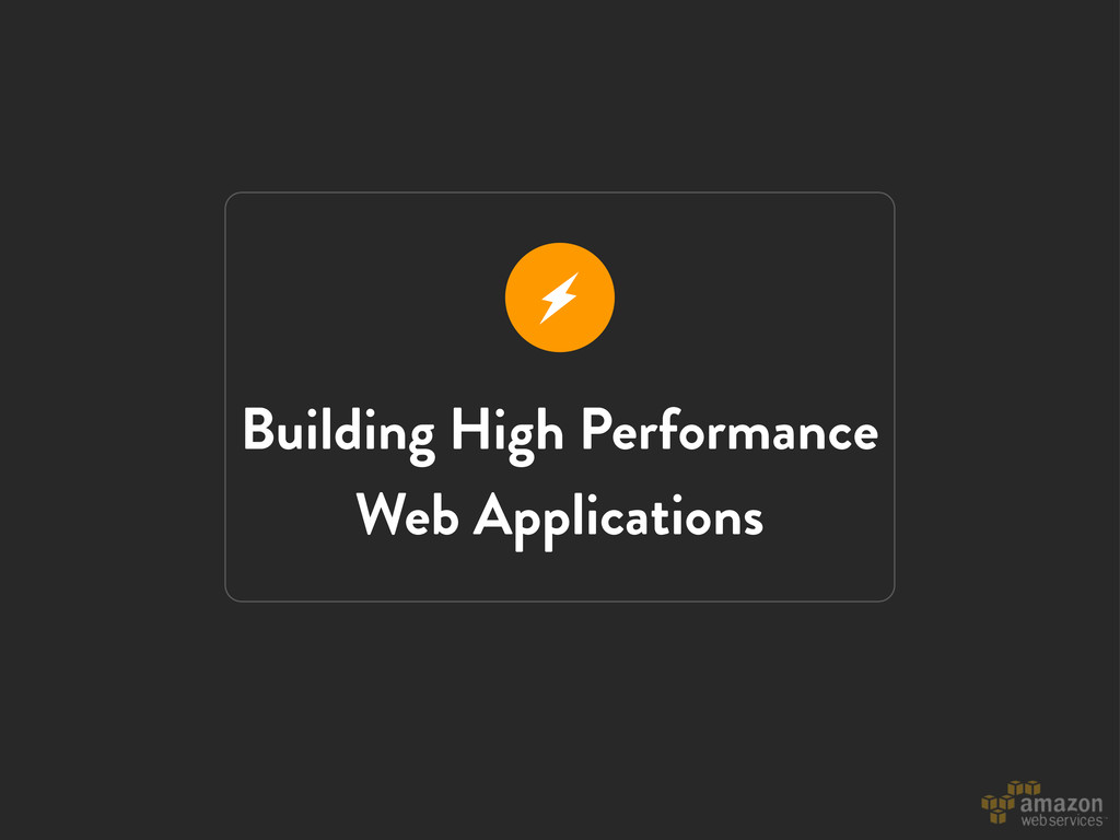 Building High Performance Web Applications r