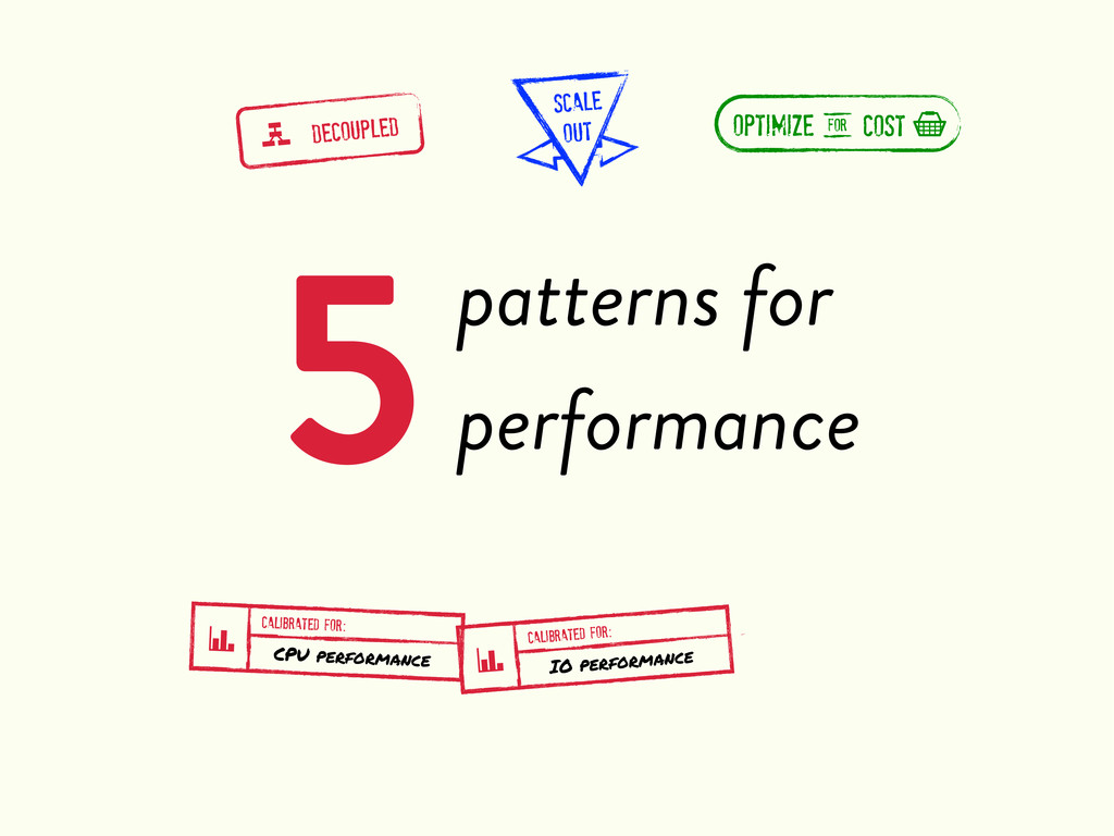 5patterns for performance g DECOUPLED SCALE OUT...