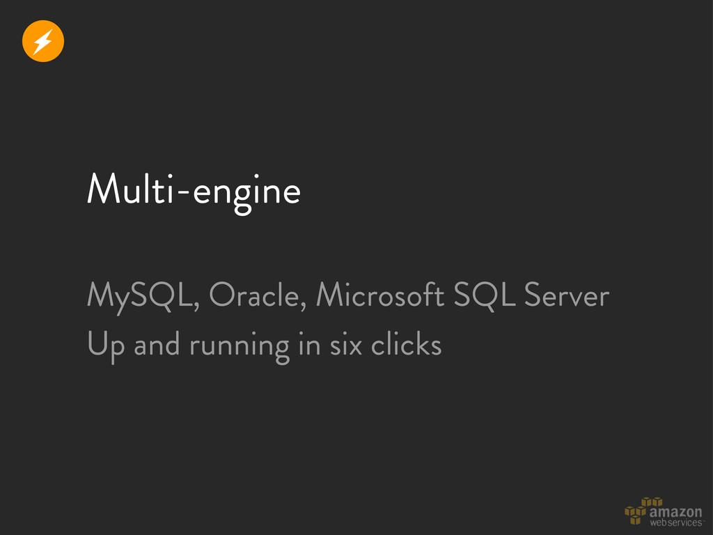 Multi-engine r MySQL, Oracle, Microsoft SQL Ser...