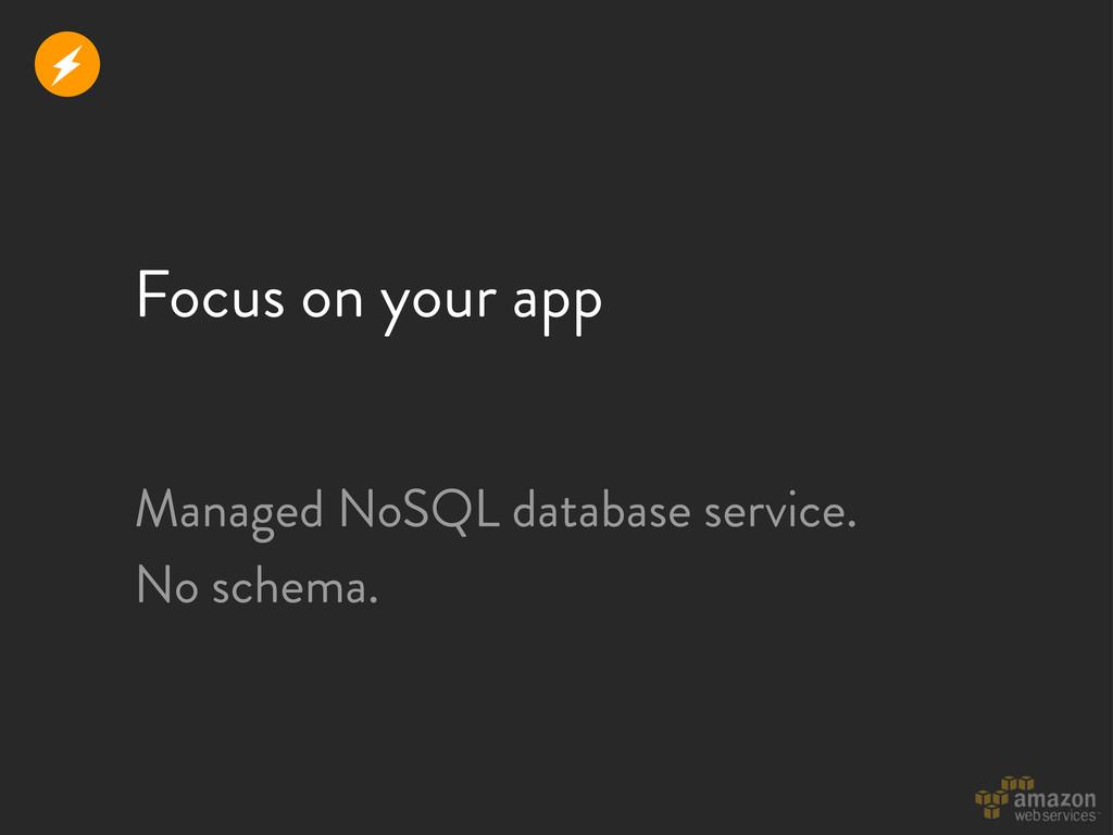 Focus on your app r Managed NoSQL database serv...