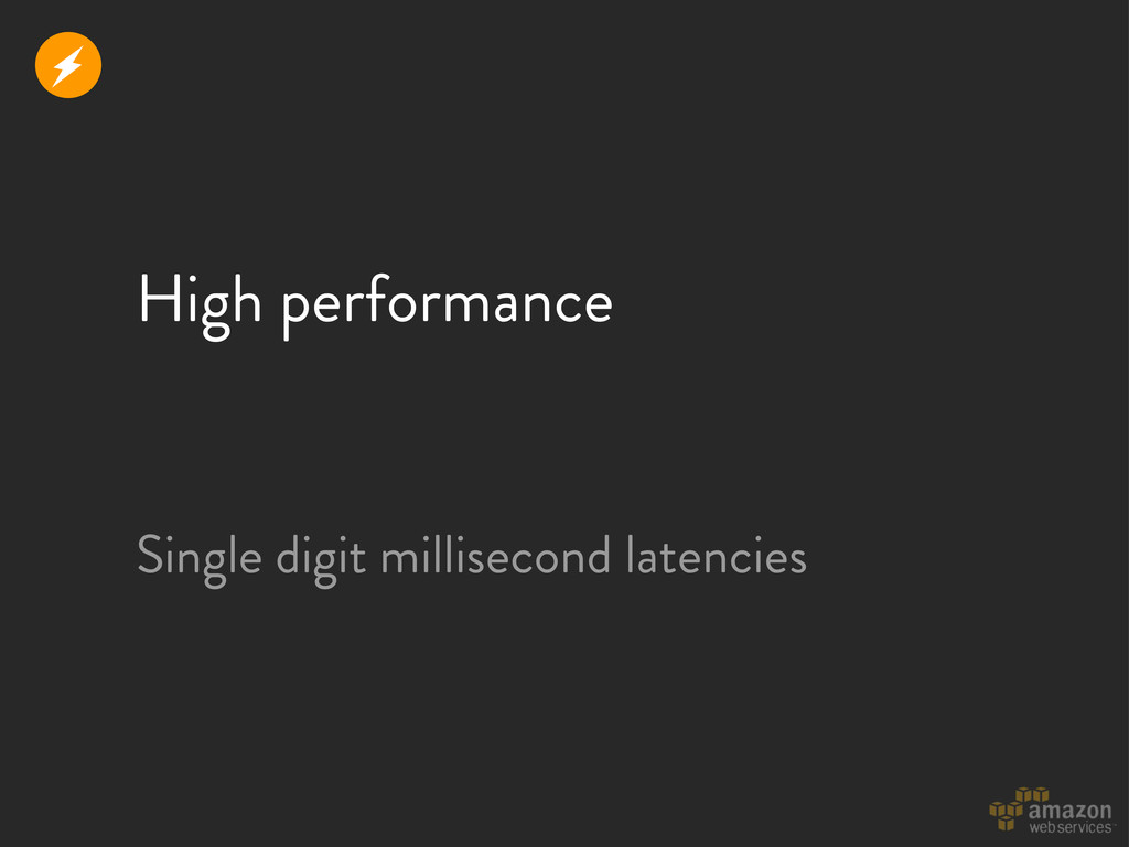 High performance r Single digit millisecond lat...