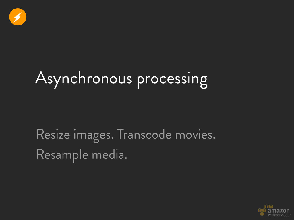 Asynchronous processing r Resize images. Transc...