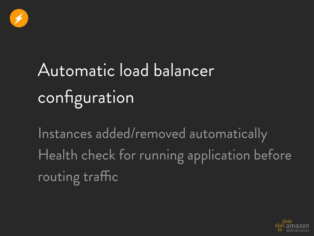 Automatic load balancer configuration Instances ...