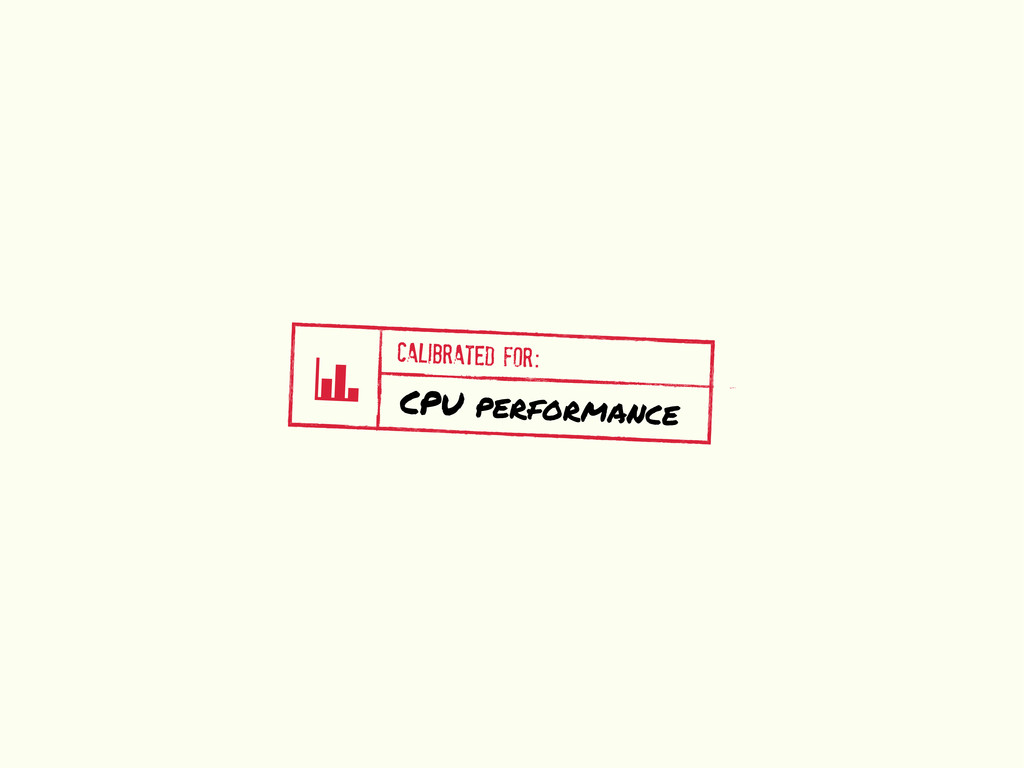 v CALIBRATED FOR: CPU performance