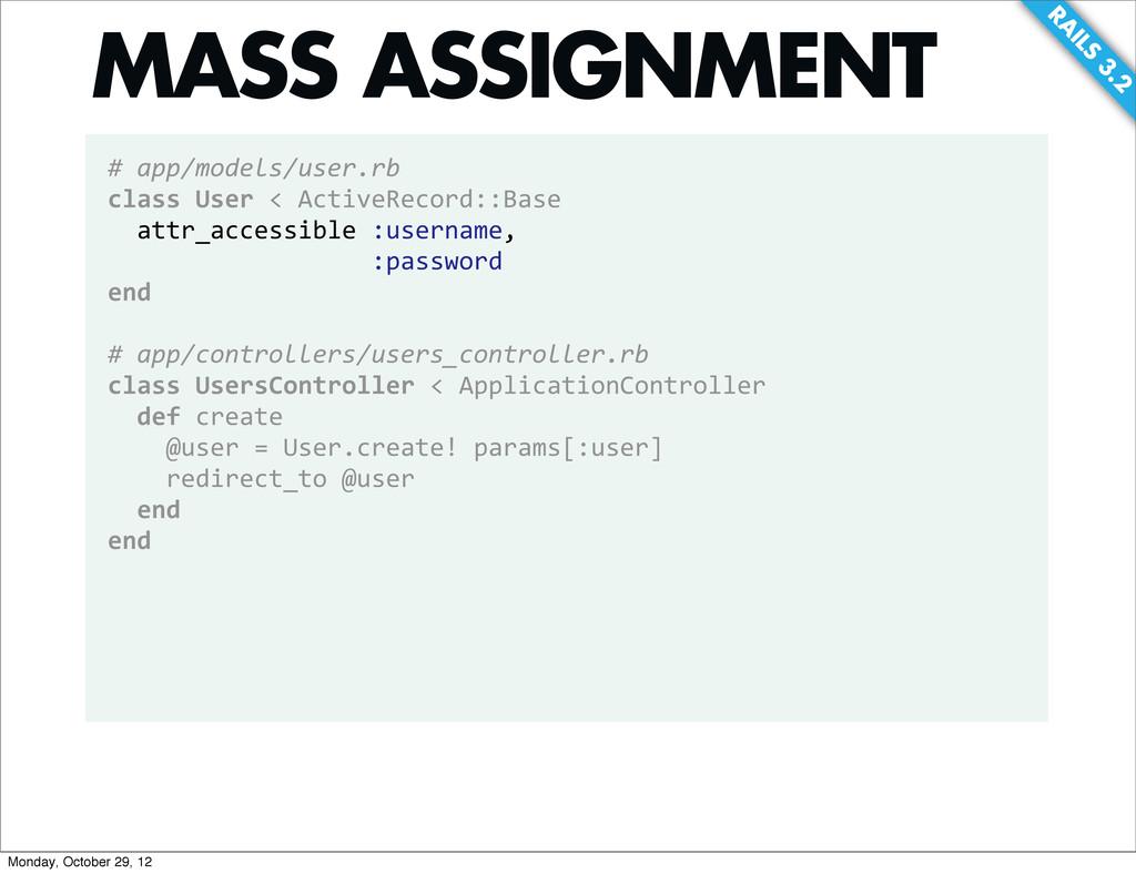 RA ILS 3.2 # app/models/user.rb class Use...