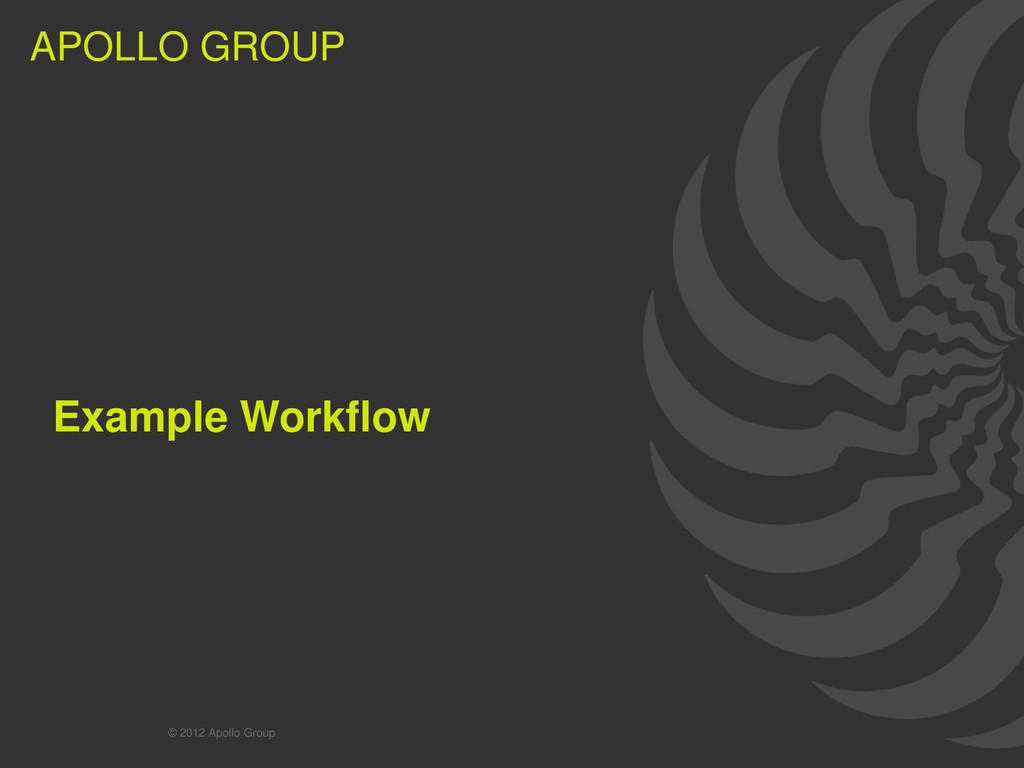 13 APOLLO GROUP APOLLO GROUP Example Workflow ©...