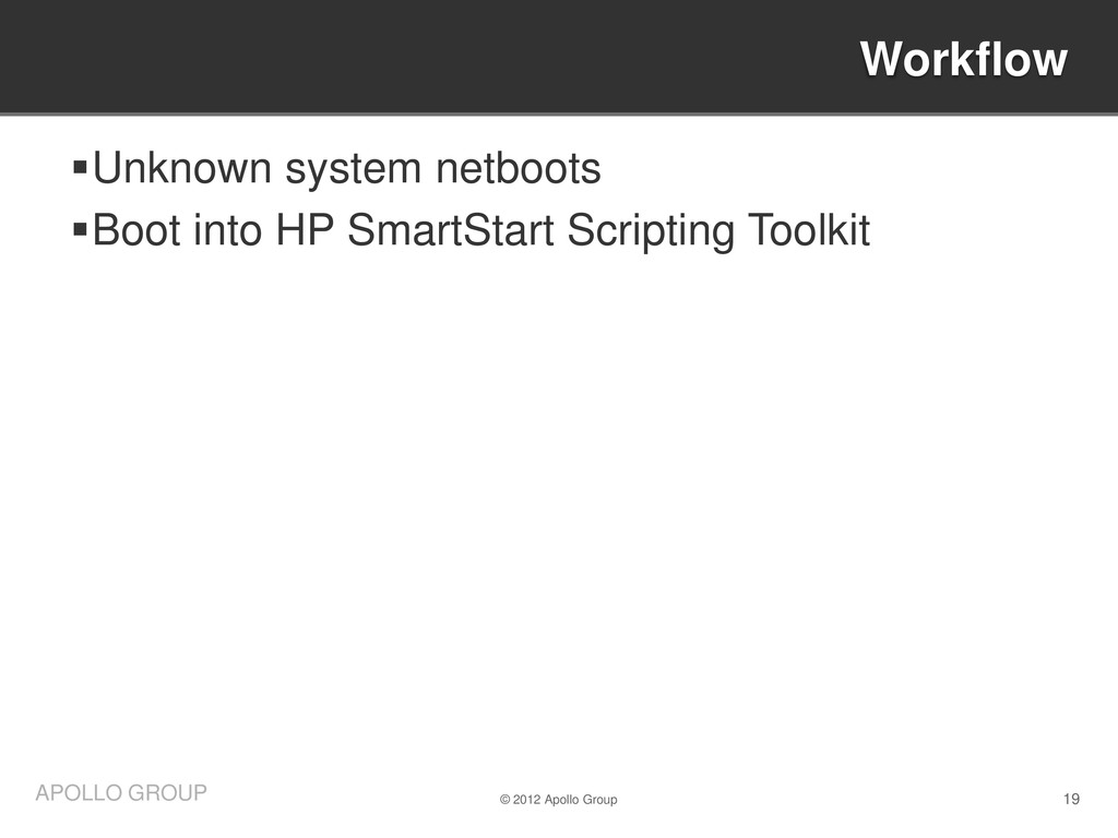 19 APOLLO GROUP Unknown system netboots Boot ...