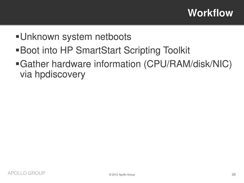 20 APOLLO GROUP Unknown system netboots Boot ...