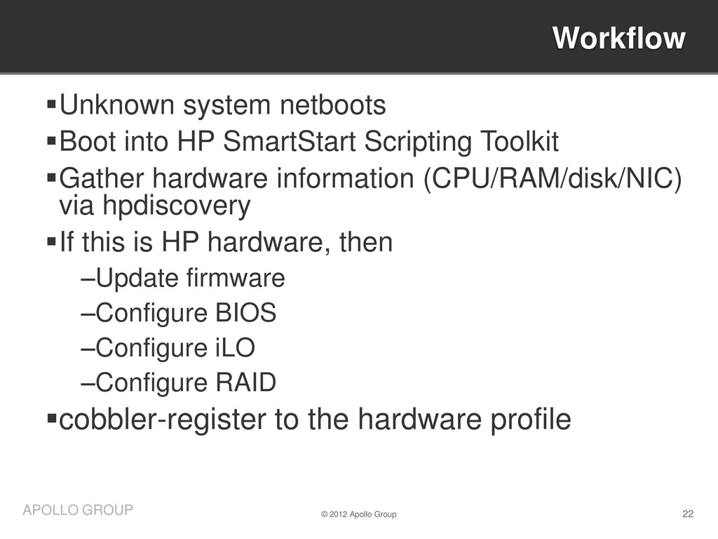 22 APOLLO GROUP Unknown system netboots Boot ...