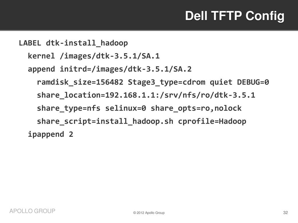 32 APOLLO GROUP LABEL dtk-install_hadoop kernel...