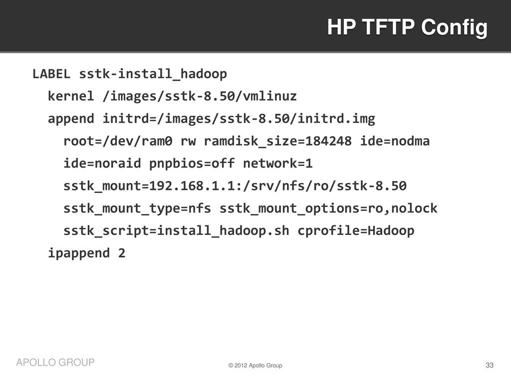 33 APOLLO GROUP LABEL sstk-install_hadoop kerne...