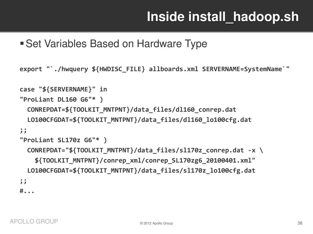 38 APOLLO GROUP Set Variables Based on Hardwar...
