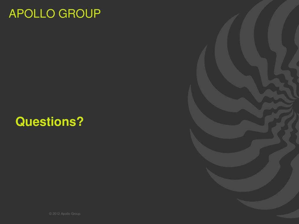48 APOLLO GROUP APOLLO GROUP Questions? © 2012 ...