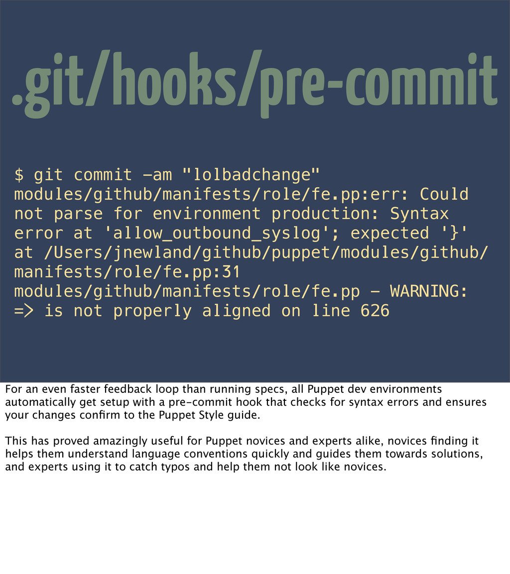 "$ git commit -am ""lolbadchange"" modules/github/..."