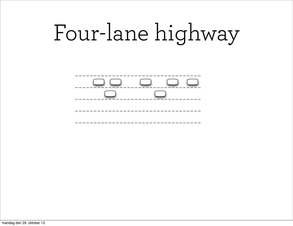 Four-lane highway mandag den 29. oktober 12