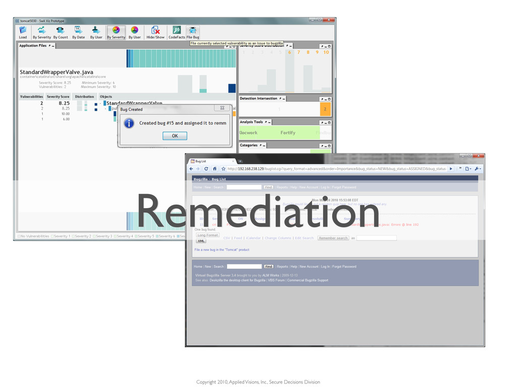 Remediation Copyright 2010, Applied Visions, In...
