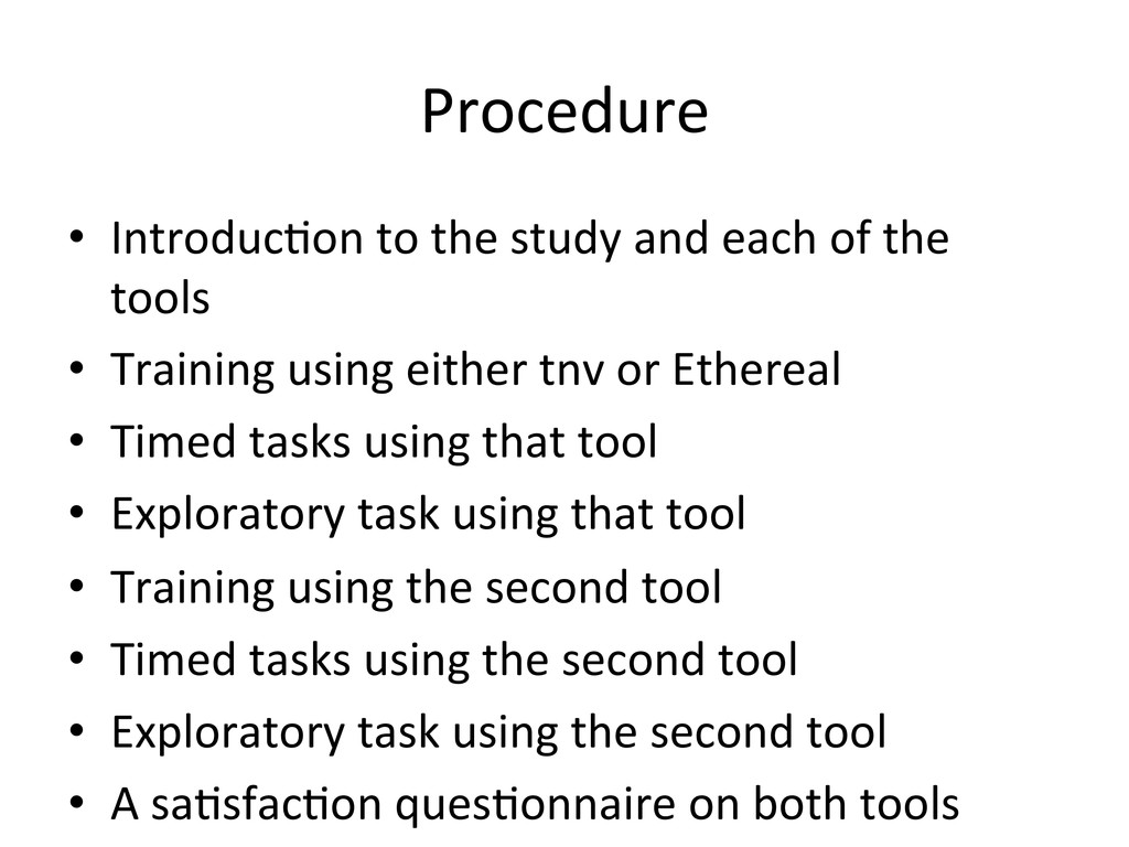Procedure  • Introduc(on to the st...