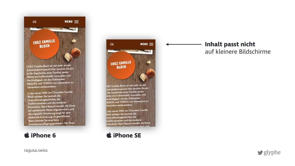 glyphe ragusa.swiss  iPhone SE  iPhone 6 Inha...