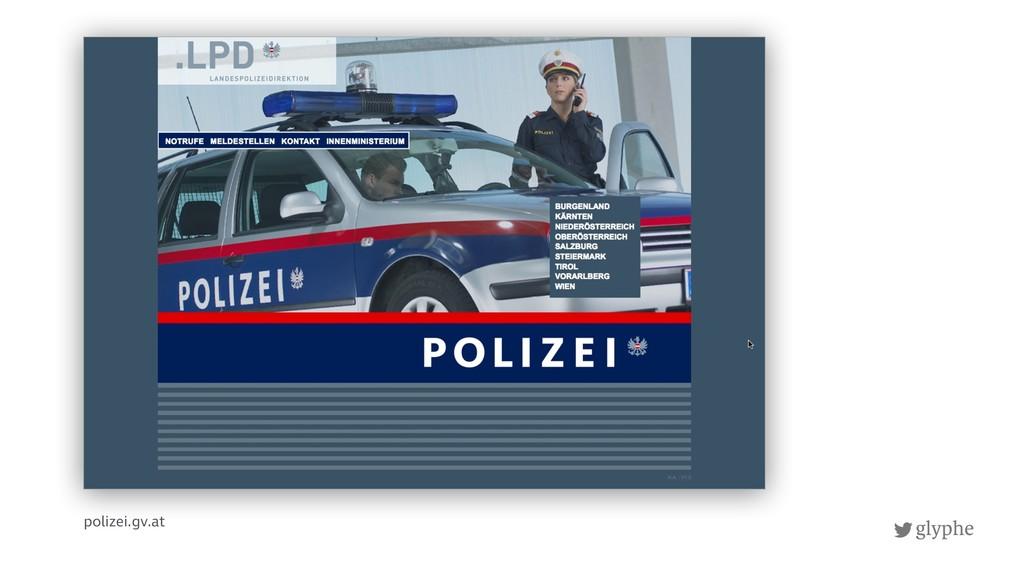 glyphe polizei.gv.at
