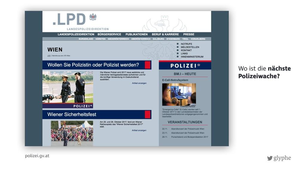 glyphe polizei.gv.at Wo ist die nächste Polizei...