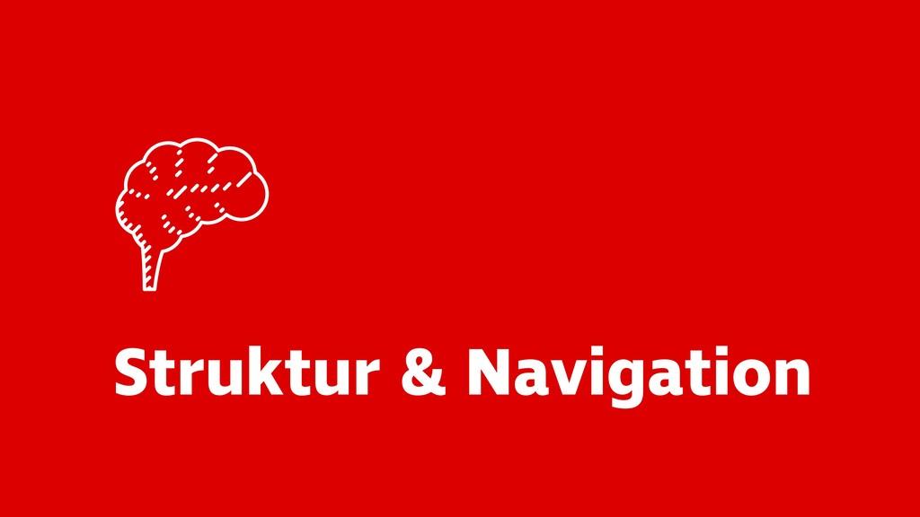 Struktur & Navigation